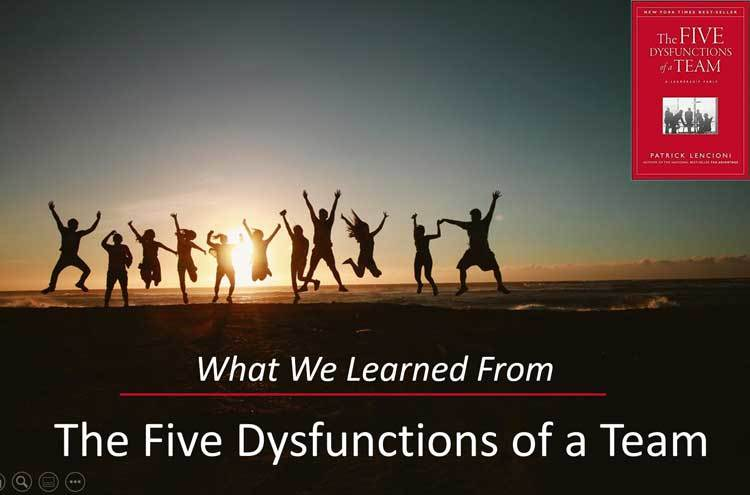 What We Learned From The Five Dysfunctions of a Team
