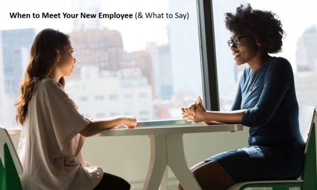 When to Meet a New Employee and What to Talk About